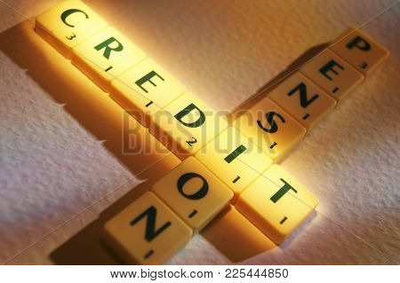 Cleckheaton, West Yorkshire, Uk: Scrabble Board Game Letters Spelling The Words Pension Credit, 1st