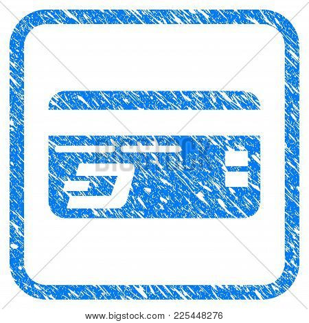 Dash Bank Card Rubber Seal Stamp Imitation. Icon Vector Symbol With Grunge Design And Corrosion Text