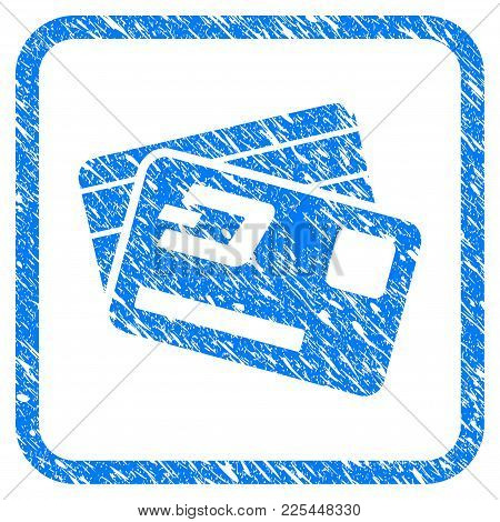 Dash Credit Cards Rubber Seal Stamp Watermark. Icon Vector Symbol With Grunge Design And Dust Textur