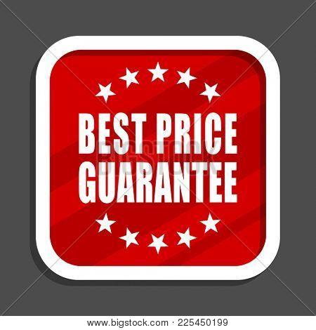 Best price guarantee icon. Flat design square internet banner.