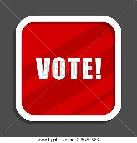 Vote icon. Flat design square internet banner.