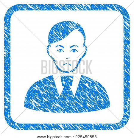 Clerk Rubber Seal Stamp Watermark. Icon Vector Symbol With Grunge Design And Unclean Texture Inside