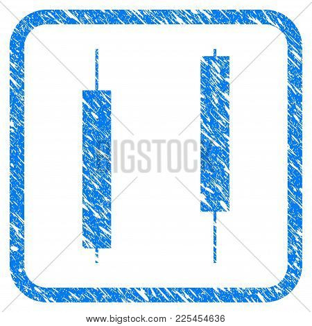 Candlesticks Rubber Seal Stamp Imitation. Icon Vector Symbol With Grunge Design And Corrosion Textur