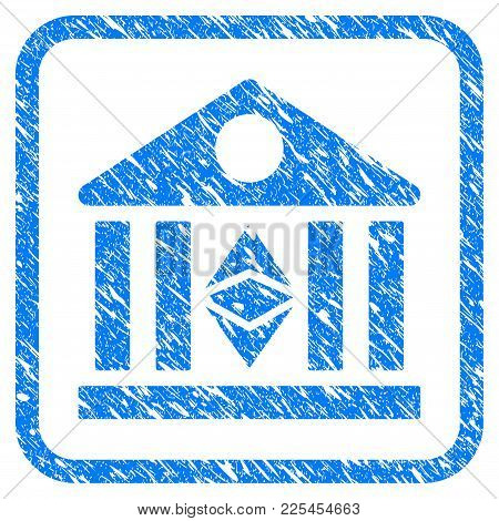 Classic Ethereum Bank Rubber Seal Stamp Watermark. Icon Vector Symbol With Grunge Design And Dust Te