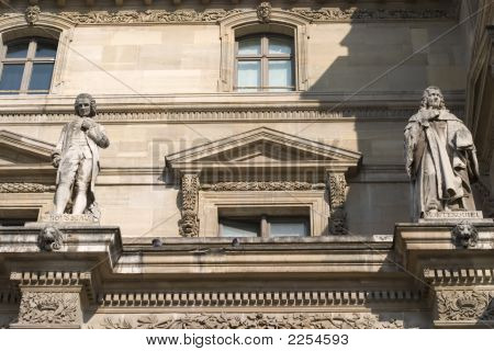 Facade Of The Louvre Museum, Paris, France