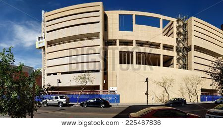 Phoenix, Az - January 30, 2018: Reconstruction Of Former Jail House Into Modern Business Offices At