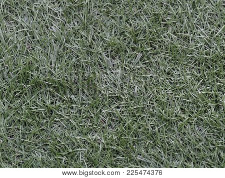 Green Astroturf, Artificial Grass, For Soccer Used As Background In Sport Concept
