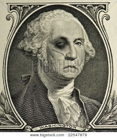 Beat up George Washington