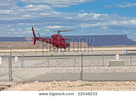 Helicopter Starting From Restricted Area