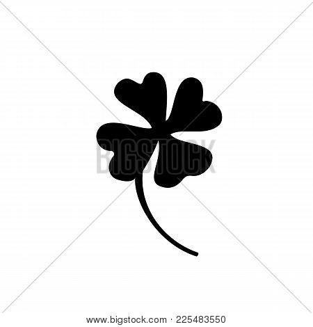 Four Leaf Clover Icon. St Patrick Day Vector. Vector Illustration