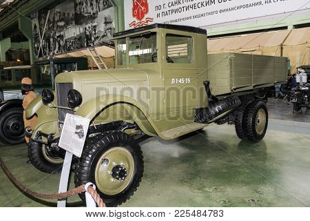 St. Petersburg, Russia - 7 May, Truck Zis-32 Of 1941 Of Release, 7 May, 2017. Automobiles And Vehicl