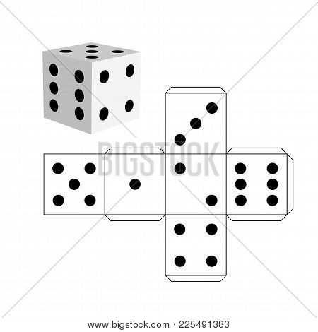 Dice Template - Model Vector & Photo (Free Trial) | Bigstock