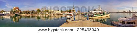 Sochi, Russia - June 5, 2015: Panorama Of Soshi From The Breakwater. Russia.