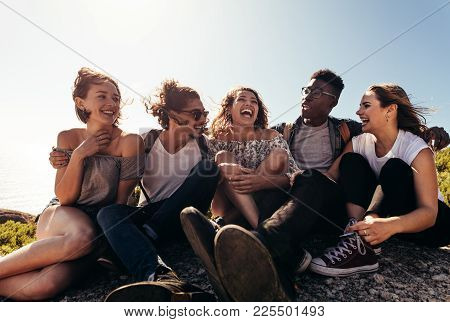Group Of Friends Enjoying On Their Holiday