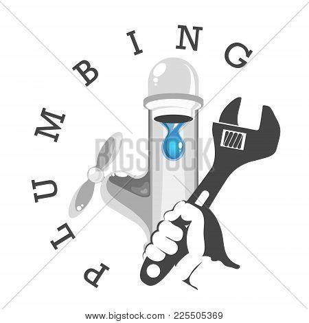 Water Tap Repair Symbol With Tool Service