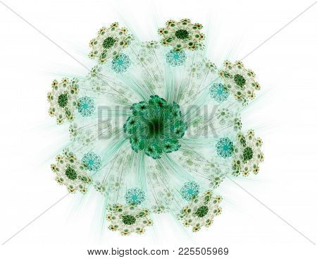 The Colors In The Series, Fancy Paint. Background Consists Of Fractal Color Texture