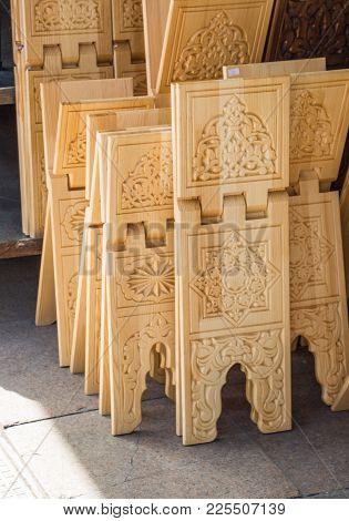 Set Of Ottoman Turkish Style  Wooden Lecterns