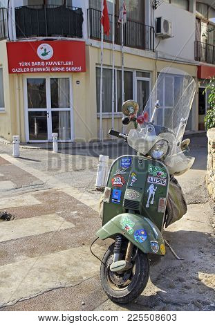 Kyrenia, Cyprus - November 18, 2017: Nice Scooter Outdoor In Kyrenia, Turkish Controlled Area Of Cyp