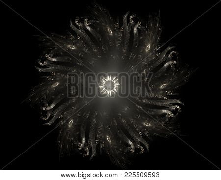 Computer Generated Fractal Artwork For Creative Design, Art And Entertainment. Background With Rotat