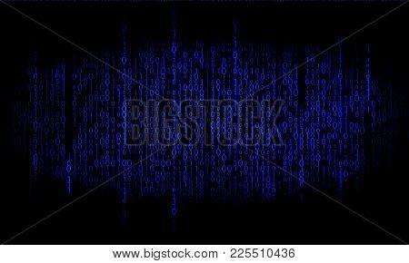 Binary Blue. Matrix Background. Binary Digital Code Backdrop