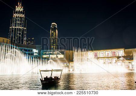 Dubai, United Arab Emirates - February 5, 2018: Dubai Fountain S