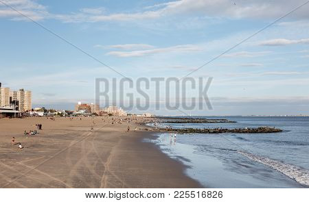 Coney Island Beach In New York City