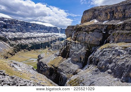 View From The Top In Ordesa Valley, Aragon, Spain