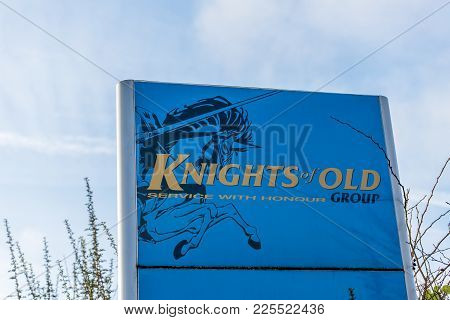 Northampton Uk January 10, 2018: Knights Of Old Service Of Honour Logo Sign Post.