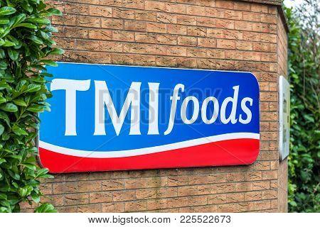 Northampton Uk January 11 2018: Tmi Foods Logo Sign Exterior.