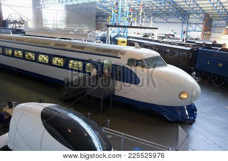 Japanese Bullet Train In National Railway Museum York England