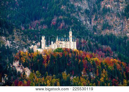 Beautiful View Of The Neuschwanstein Castle In Autumn