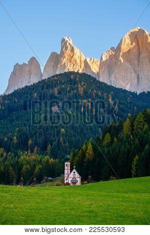 St Johann Church, Santa Maddalena, Dolomites, Italy
