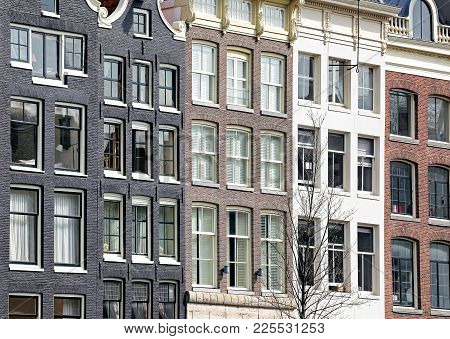 Amsterdam, Netherlands - April 3: Typical Architecture In City  On April 3, 2014 In Amsterdam