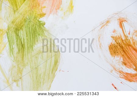 Child Scribble On The Wall Colored Pencils Scribbles On A White Wall Made By A Little Kid That Could