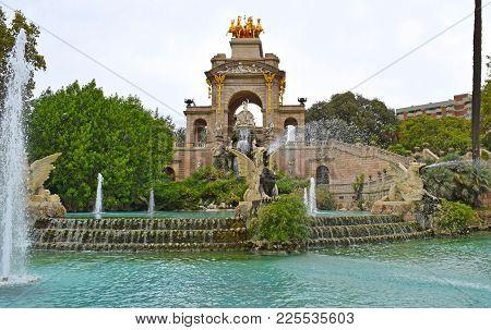 Parque De La Ciudadela In Barcelona Spain