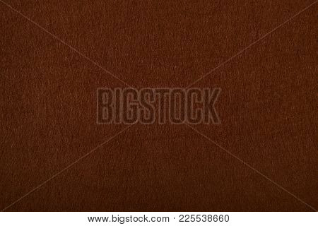 Fragment Of The Surface Of Fibrous Synthetic Non-woven Material Of Brown Color. Background, Texture