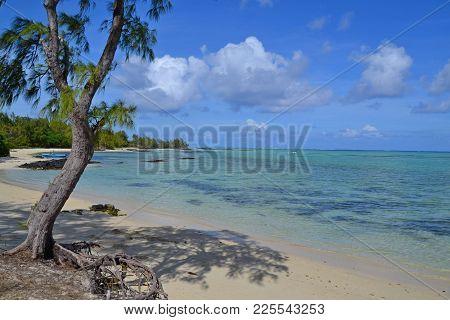 Beach On Ile Aux Cerf, A Smaller Island Near Mauritius