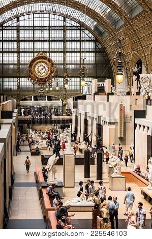 Main Hall Of The Orsay Museum ( Musee D'orsay). Paris, France