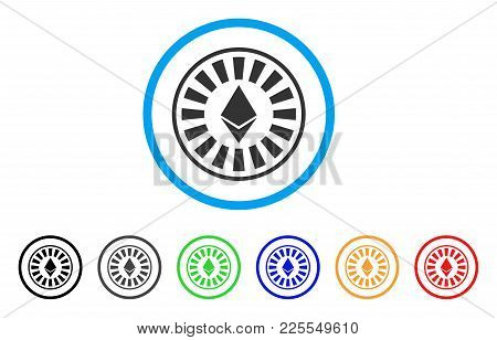 Ethereum Casino Roulette Icon. Vector Illustration Style Is A Flat Iconic Ethereum Casino Roulette B