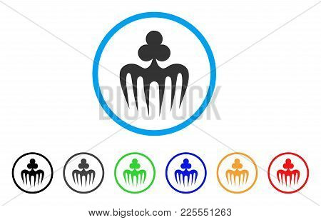 Gambling Spectre Monster Icon. Vector Illustration Style Is A Flat Iconic Gambling Spectre Monster B