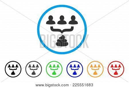 Human Shit Aggregator Funnel Icon. Vector Illustration Style Is A Flat Iconic Human Shit Aggregator