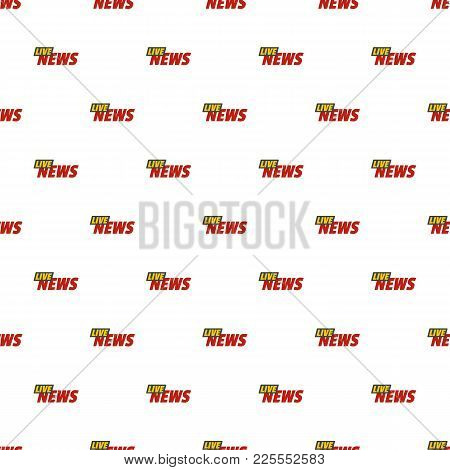 Live News On Air Pattern Seamless In Flat Style For Any Design