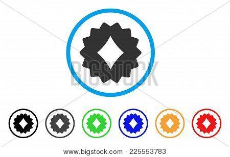 Diamonds Token Icon. Vector Illustration Style Is A Flat Iconic Diamonds Token Black Symbol With Gre