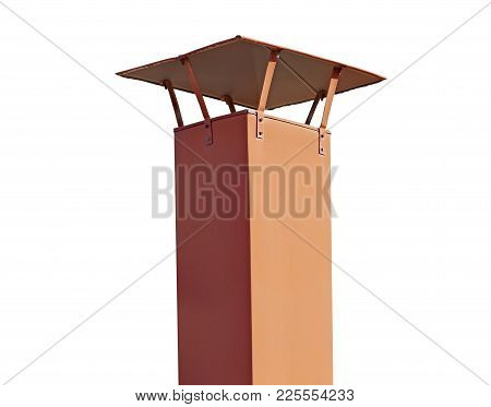 The New Smokestack Isolated On White Background