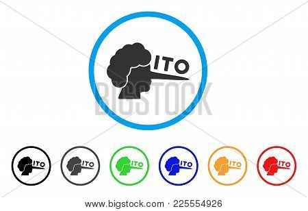 Ito Lier Icon. Vector Illustration Style Is A Flat Iconic Ito Lier Black Symbol With Gray, Yellow, G
