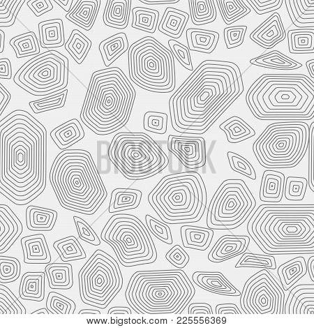Turtle Seamless Pattern Background. Gray Tortoise Vector Illustration. Terrapin Africa Print Wallpap