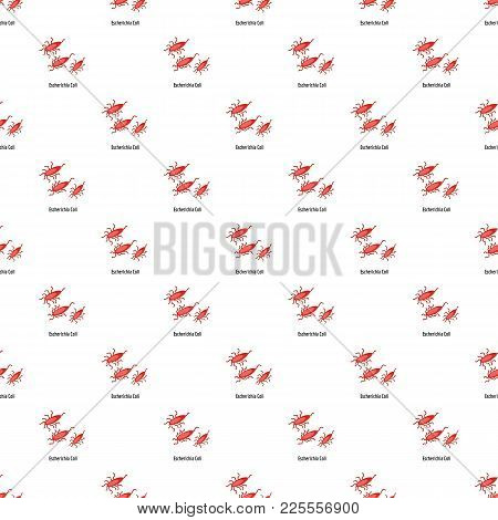 Escherichia Coli Pattern Seamless In Flat Style For Any Design