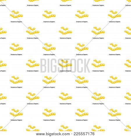 Streptococcus Pyogenes Pattern Seamless In Flat Style For Any Design