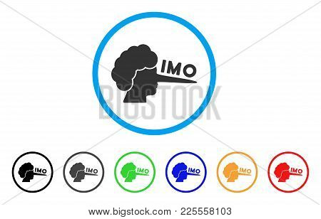 Imo Lier Icon. Vector Illustration Style Is A Flat Iconic Imo Lier Black Symbol With Gray, Yellow, G