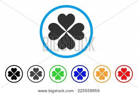 Lucky Cloever Icon. Vector Illustration Style Is A Flat Iconic Lucky Cloever Black Symbol With Grey,